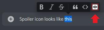 Discord spoiler icon